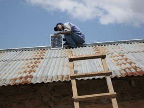 Installing a photovoltaic panel on the roof