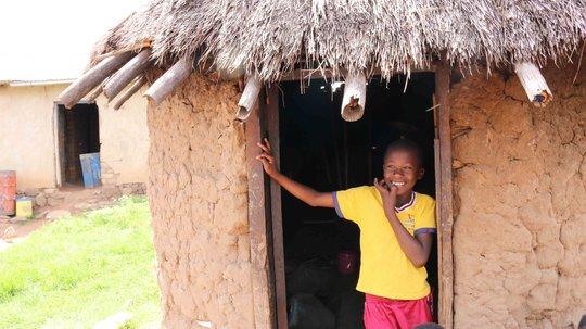 Solar home in local village