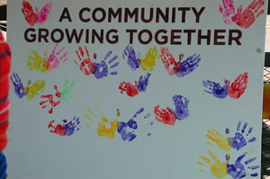 Community created mural
