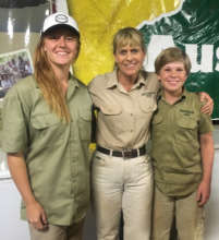 Mikayla with Teri and Robert Irwin