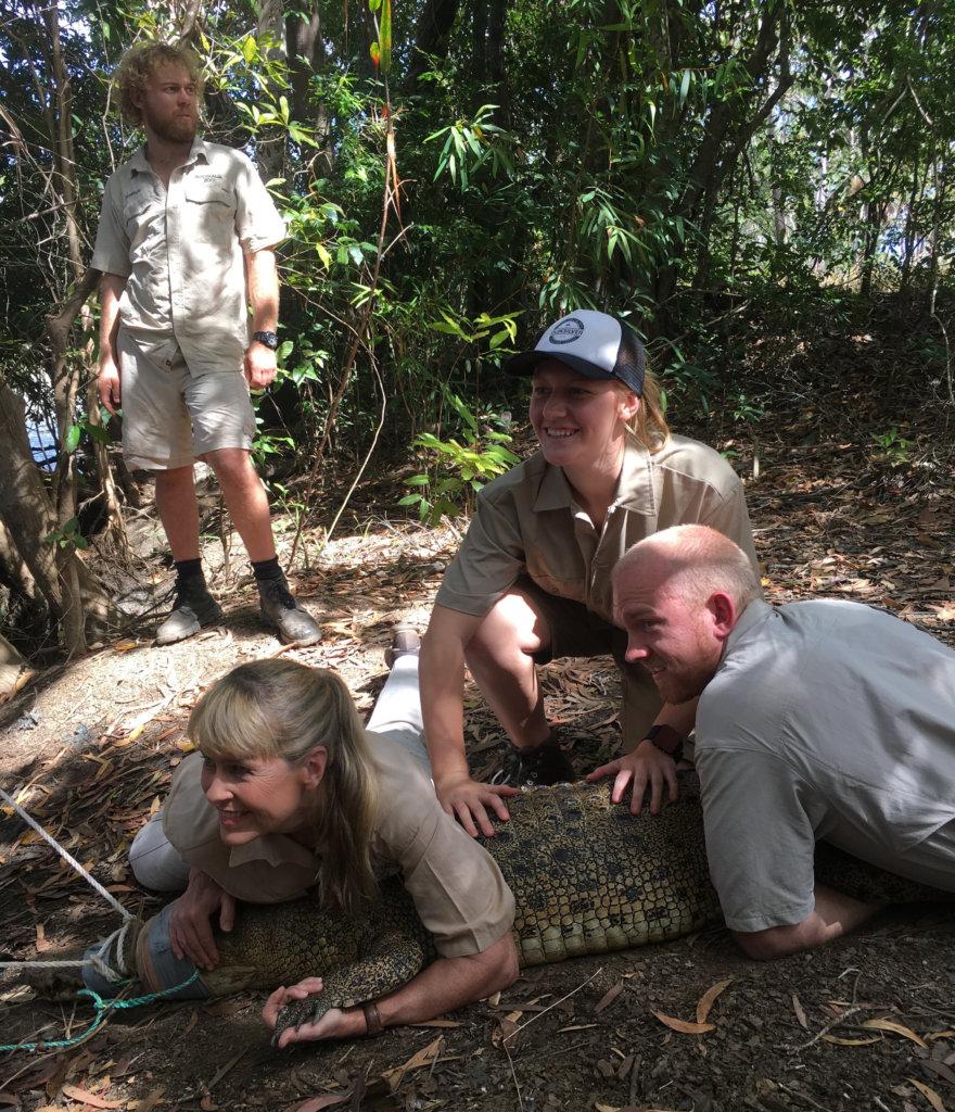 Mikayla with the Australia Zoo Croc Team