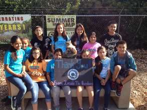 Sponsored campers thank donor
