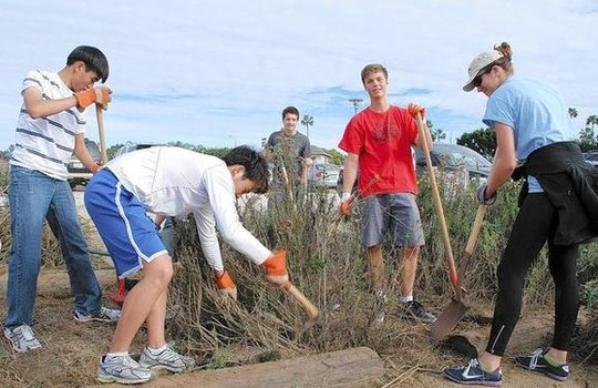 MLK Day of Service with Corona Del Mar HS Students