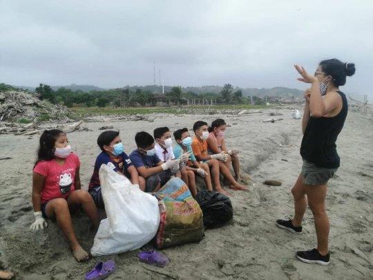 Viviana talking about plastic impact
