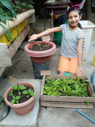 Hanney and her home garden
