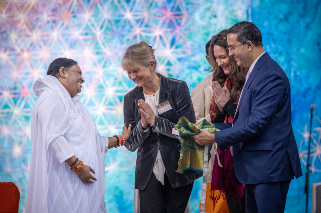 Guest speakers welcoming Amma in Copenhagen