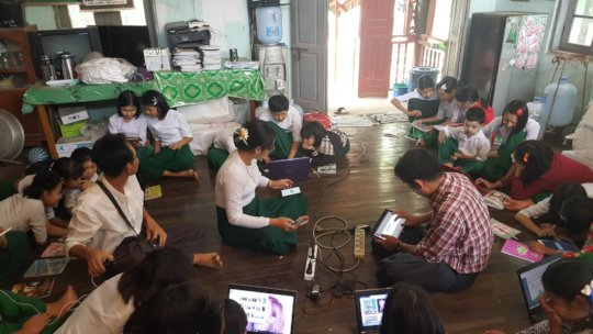 MyLibrary visits No 9 Basic School, Hpa-an