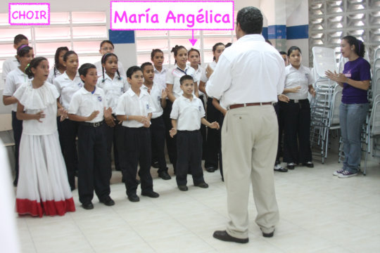 Angelica singing - Choir at the School - 2010