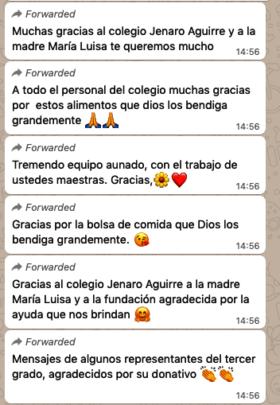 Grateful parents - thank you notes