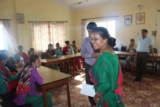 Devaka ji sharing women's empowerment initiative