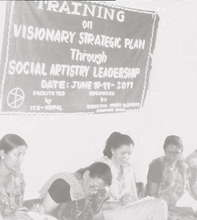 Social Artistry training with women's cooperatives