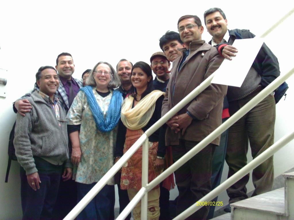Nepal Social Artistry team with Jan