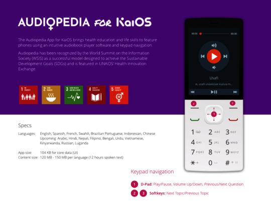 Audiopedia on Feature Phones