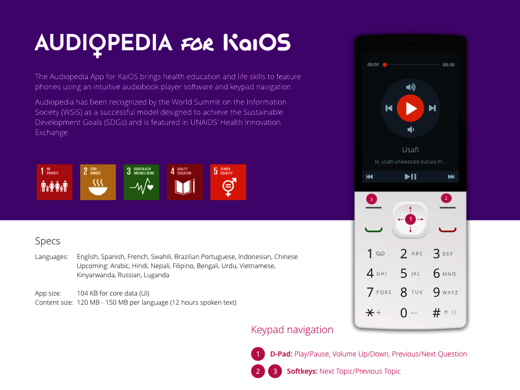 Audiopedia on Feature Phones