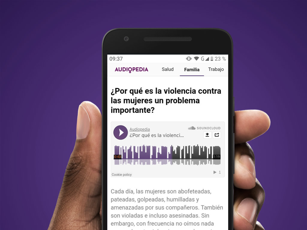 Audiopedia.IO, language specific page (Spanish)