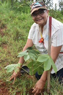 Community member and producer, planting tree