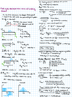 Beam Stress&Moment Calculations