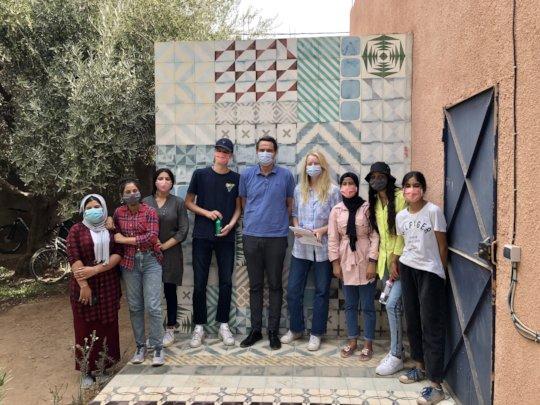 Norwegian Ambassador visits with PS Girls