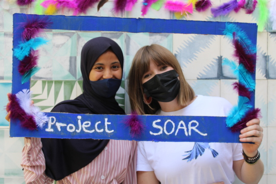 Soukaina with Project Soar Program Manager Tess