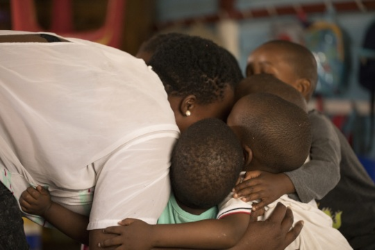 Unconditional love is provided through our work