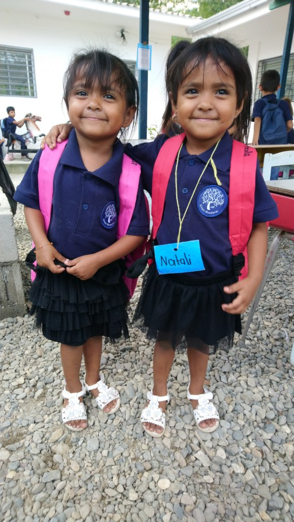 Natali and Emeli, kindergarten students
