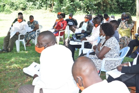 Buvuma District leaders learning  MHM matters