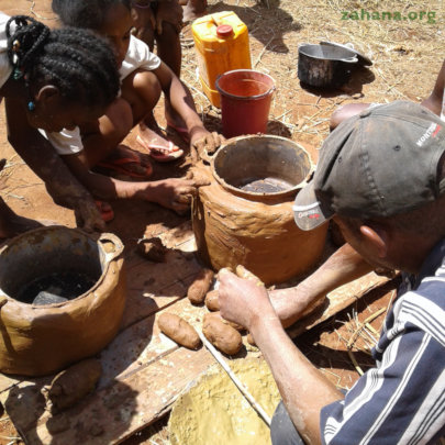 Building their cookstove is a family project