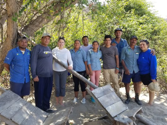 Sarah met up with the sea turtle rangers recently