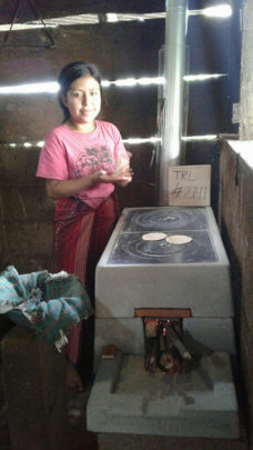 C. Maria is happy with her new ONIL stove