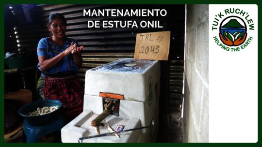 Tz'utujil woman using an ONIL stove