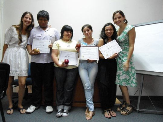 Awarding of diplomas to youth leaders- 11/19/11
