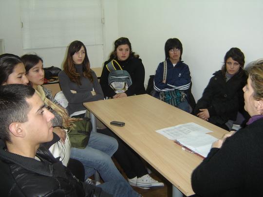 First job-training session in La Plata