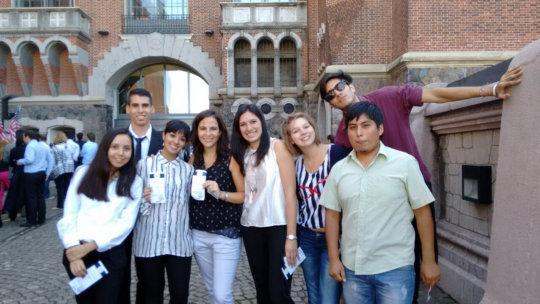 Cimientos Graduates on Obamas event