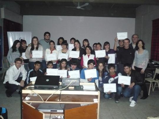 Participants get their course diploma