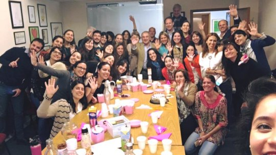 Cimientos team celebrating our 20th anniversary