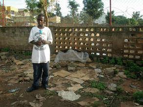 Rwandan street children - sleeping area