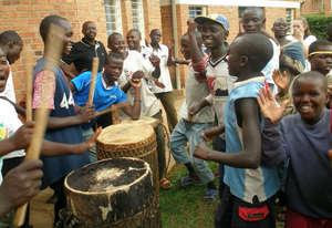 Rwanda Mizero street children - playing