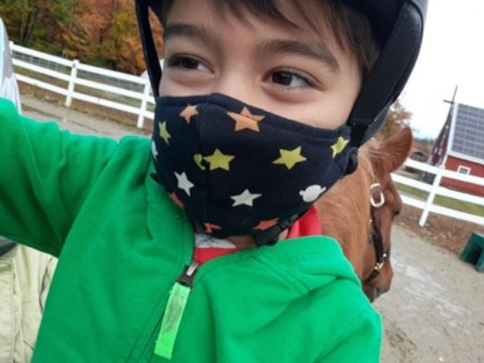 Masked Rider in the time of Covid
