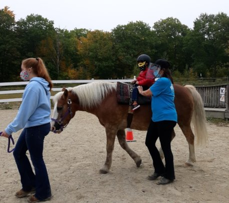 Assisted Rider during Covid 19