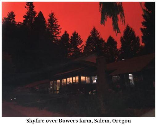 Skyfire over Bowers farm, Salem, Oregon