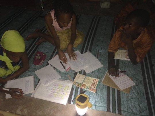 Student in Yassiriba, a poor village in Senegal