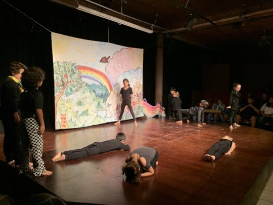 Theater based upon the book that the children read