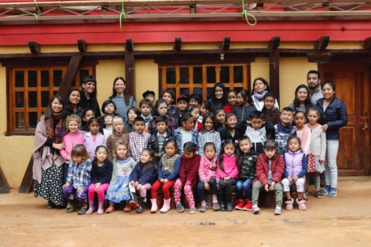 Recent photo of the Ananda community