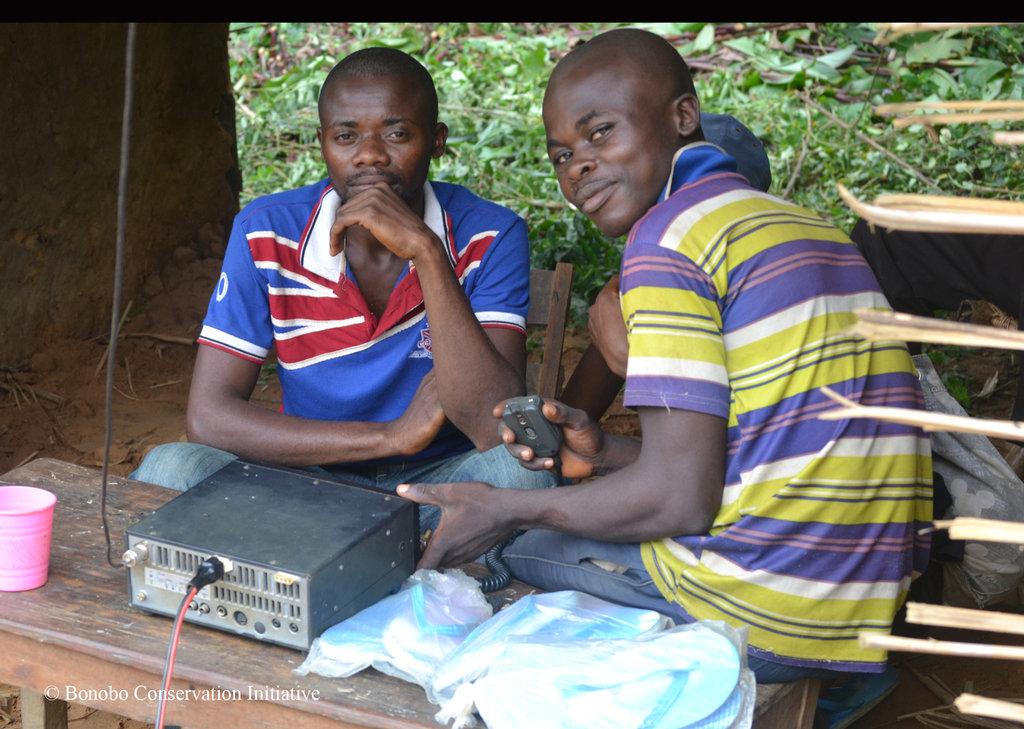 HF Radio in use at Kokolopori