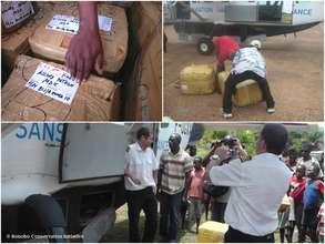 Supplies on their trip from Kinshasa to Kokolopori