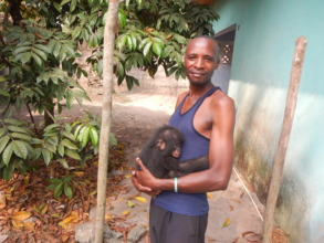 BCI's Dieudonne Bahati Mwanza with Bikoro