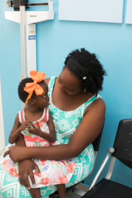 A patient at the center for disabled childrens