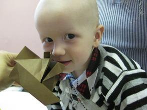 """I made this origami myself!"""