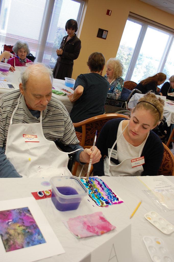 Paint brushes, balls and straws