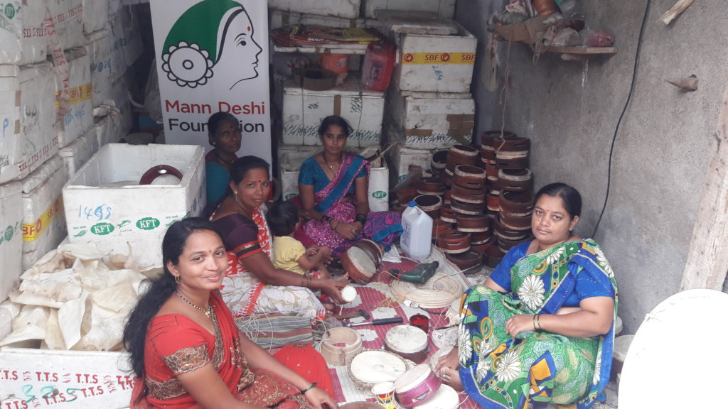 Rupali with her employees